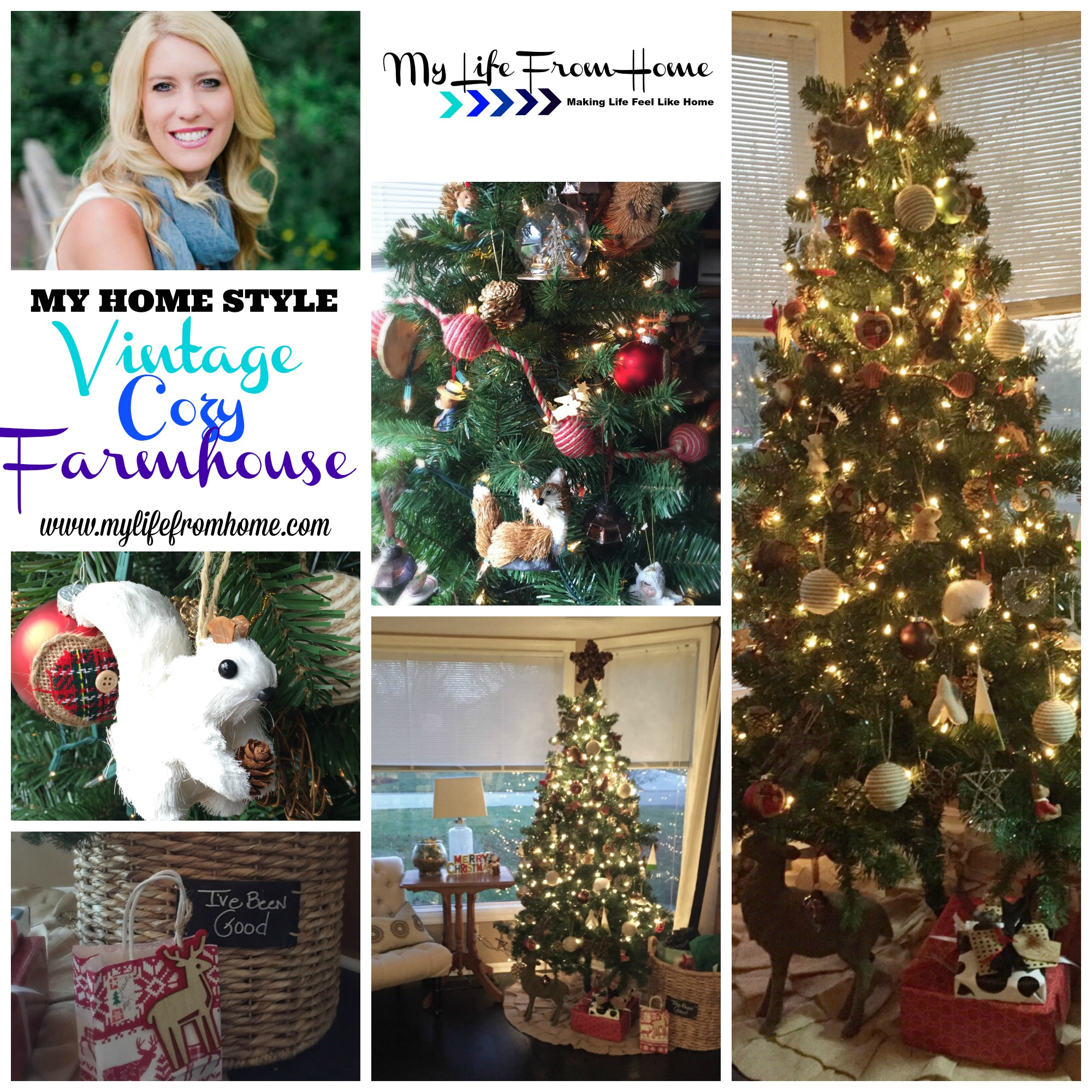 My Home Style Christmas Tree by www.mylifefromhome.com