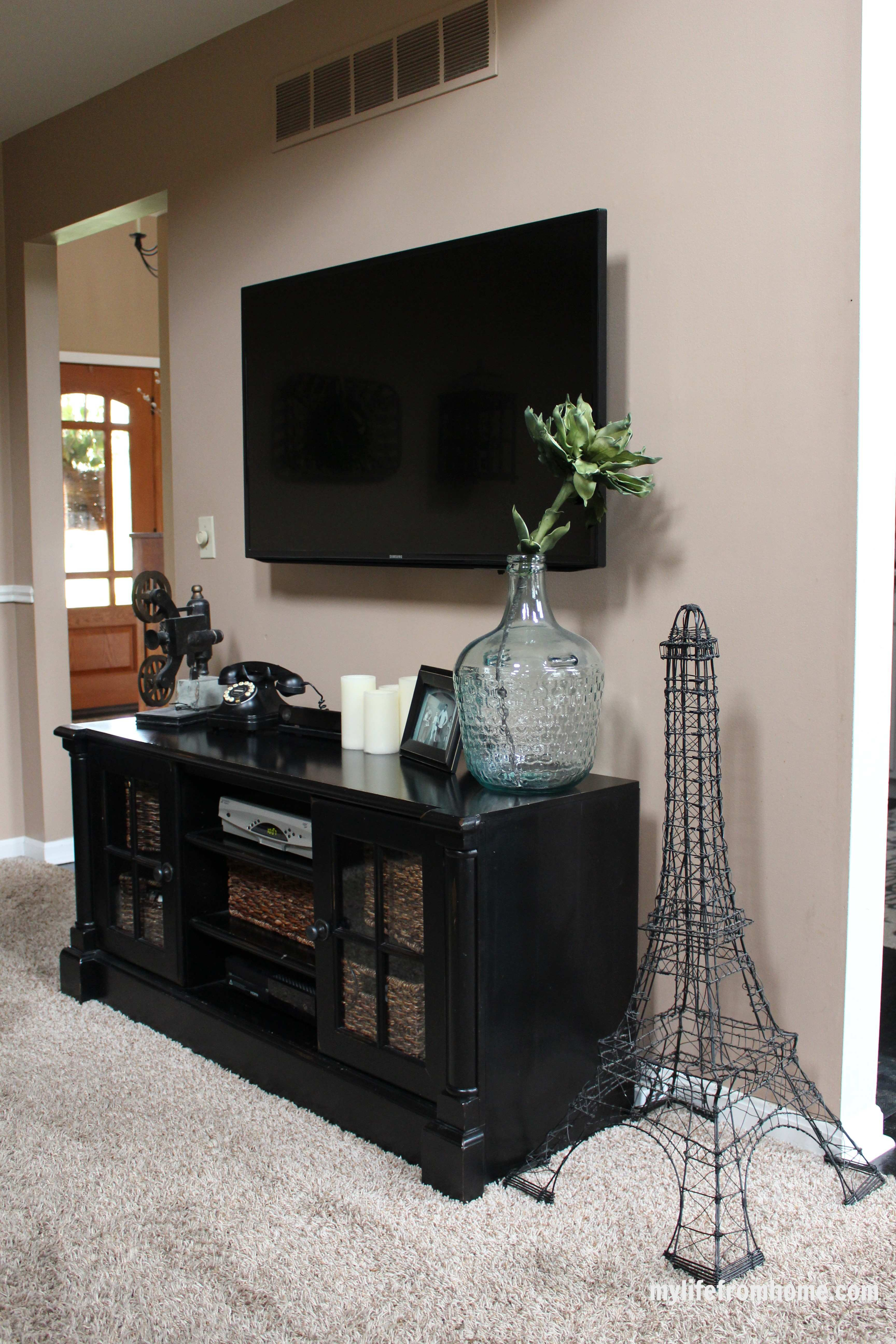 Media Center Vignette by www.mylifefromhome.com