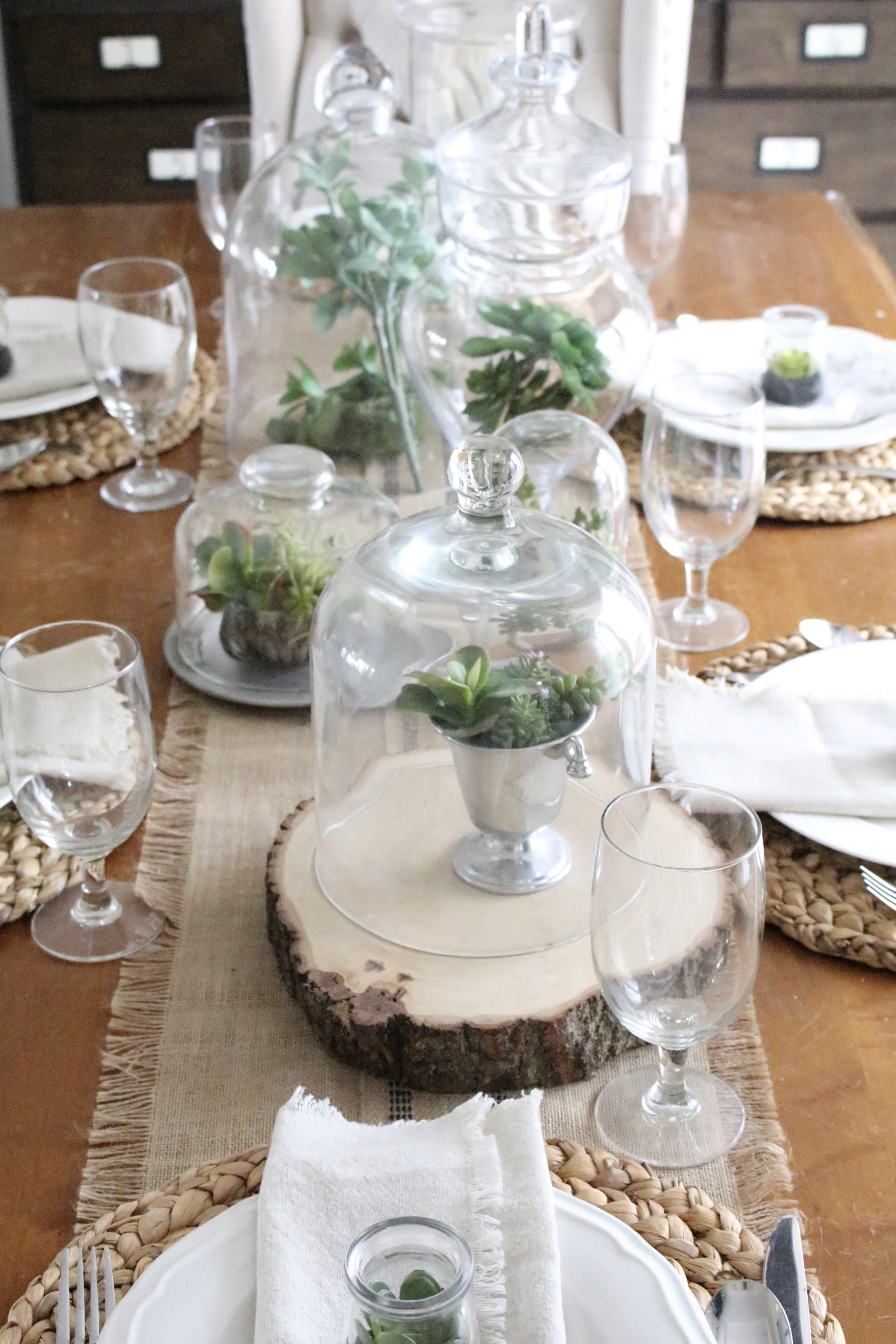 How To Create A Spring Tablescape With Succulents White Cottage Home Living