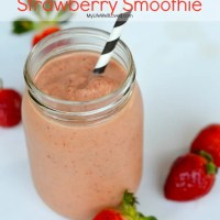 White Chocolate Strawberry Smoothie