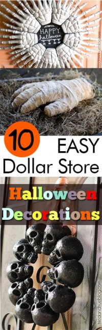 10 EASY Dollar Store Halloween Decorations - My List of Lists