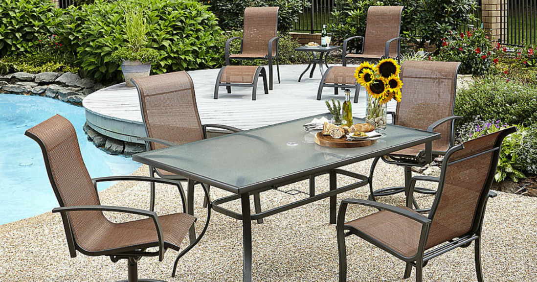 Kmart Patio Clearance 70 Off 10 Pc Patio Set Only 180 Mylitter One Deal At A Time - Garden Furniture Dining Set Clearance