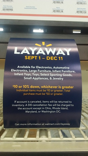 Walmart Layaway 2017 Policy (Starts September 1st) - MyLitter - One