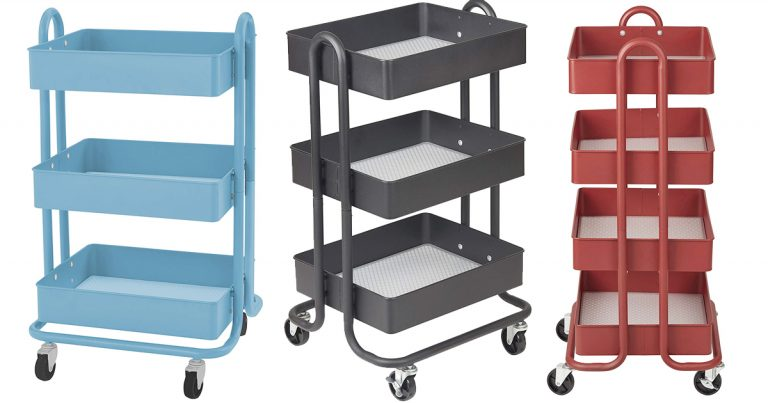 Amazon 3 Tier Metal Rolling Utility Cart As Low As 3749