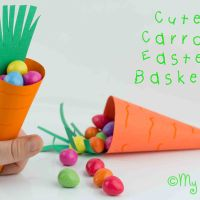 Make A Carrot Easter Basket - Free Printable