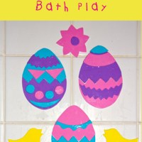 Easter Foam Bath Shapes - free printable template