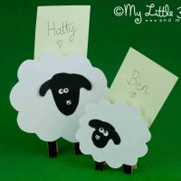 Clothespin Sheep Place Card Holders