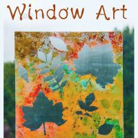 Autumn Art - Window Painting