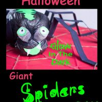 Halloween Spider Craft - Giant Glow In The Dark Spooky Fun