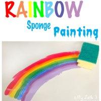 Art For Kids - Rainbow Sponge Painting