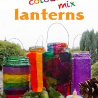 Colour Mixing Lanterns - Autumn / Fall Craft