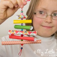 Homemade Christmas Ornaments-Paper & Bead Trees