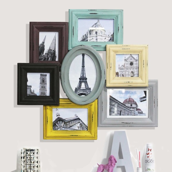 Bilderrahmen Collage Vintage Bunt My Lovely Home - Bunte Bilderrahmen