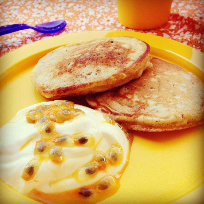 Carrot, apple & sultana mini pancakes