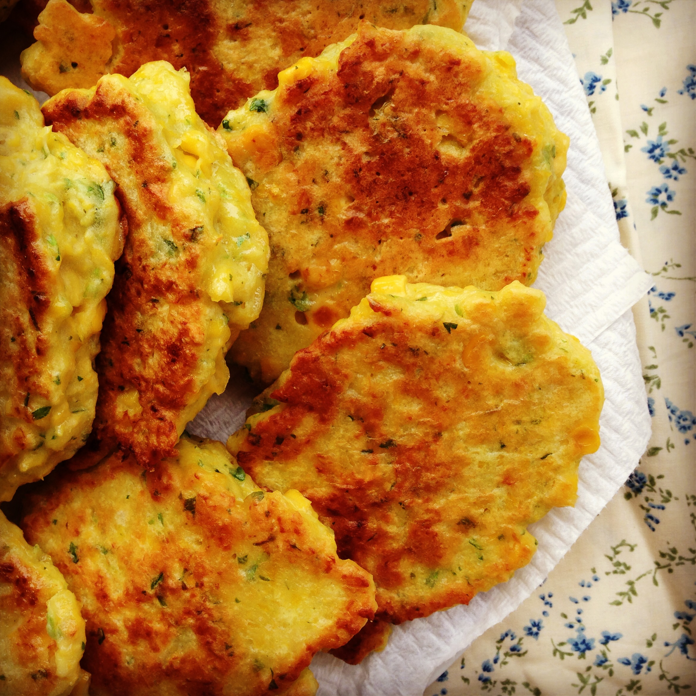 Corn Fritters Made With Pancake Mix