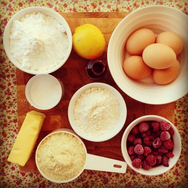 raspberry lemon friands