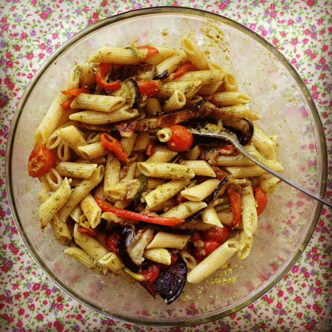 roasted mediterranean vegetable penne