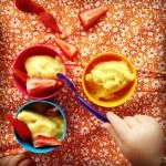 Mango & banana frozen yoghurt