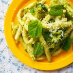 pasta with broccoli pesto