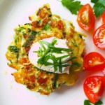 zucchini and brussel sprout fritters