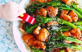 char siu chicken & broccolini stir fry