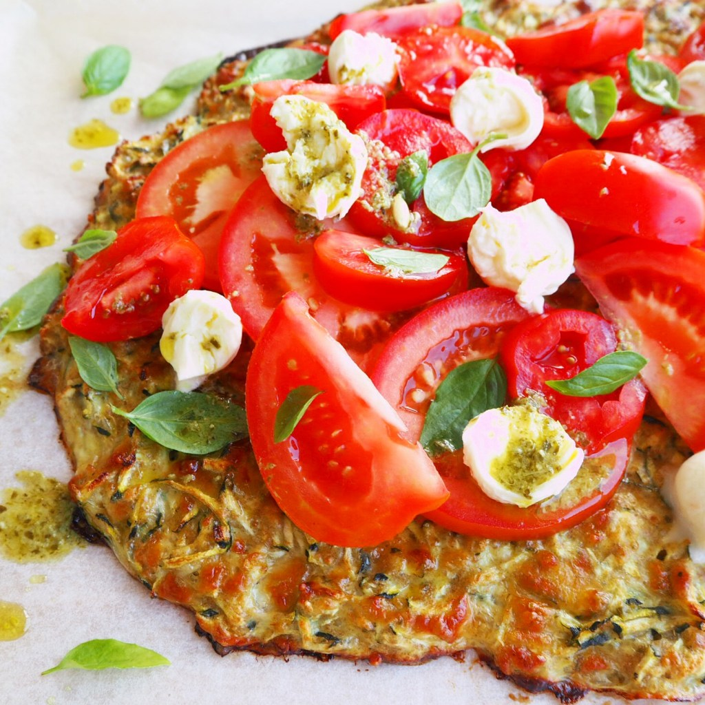 zucchini base pizzas