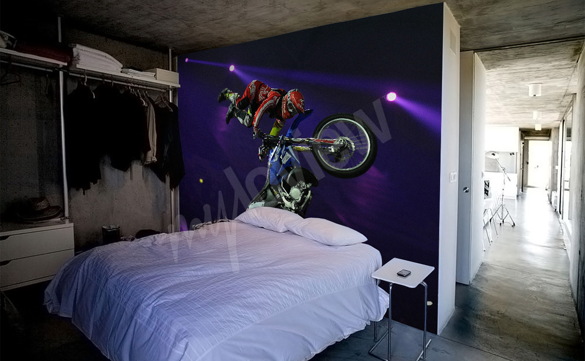 Papier Peint Gp Decor Papiers Peints Motos Mur Aux Dimensions Myloview Fr