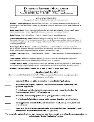 Rental Application - Apply to rent a home