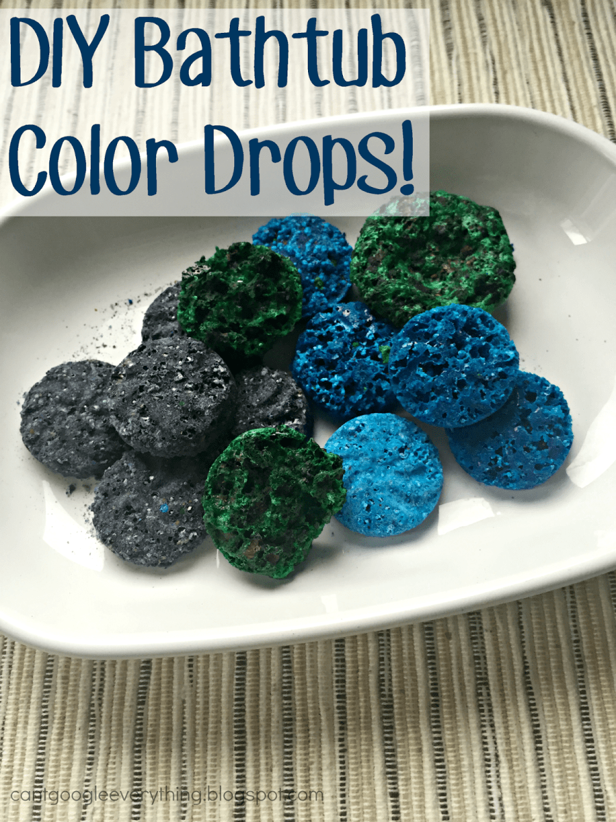 DIY Homemade Bathtub Color Drops!