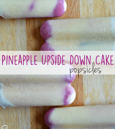 Pineapple Upside-down Cake Popsicles!