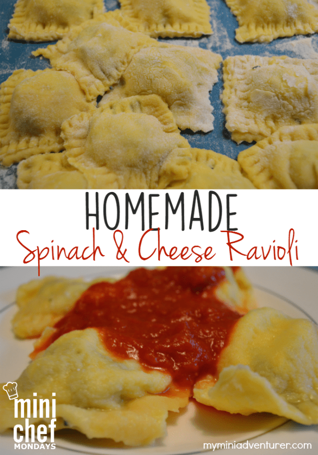Homemade Spinach and Cheese Ravioli