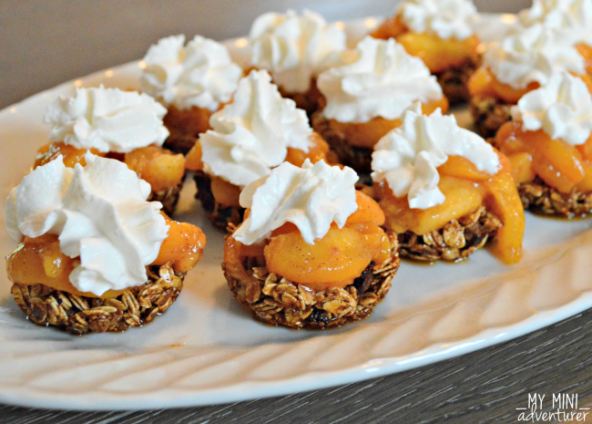 granola cups peaches and cream