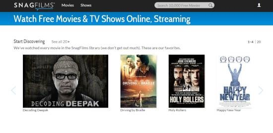 SnagFilms-watch free movies online