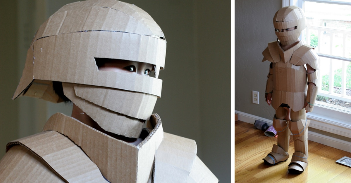 Fantastical Cardboard Costume DIY Turns Boxes into Knight\u0027s Armor