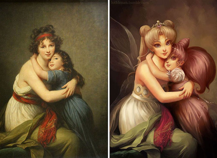 Nerdy Japanese Girl Wallpaper Fandom Art By Lothlenan Turns Classical Paintings To Anime