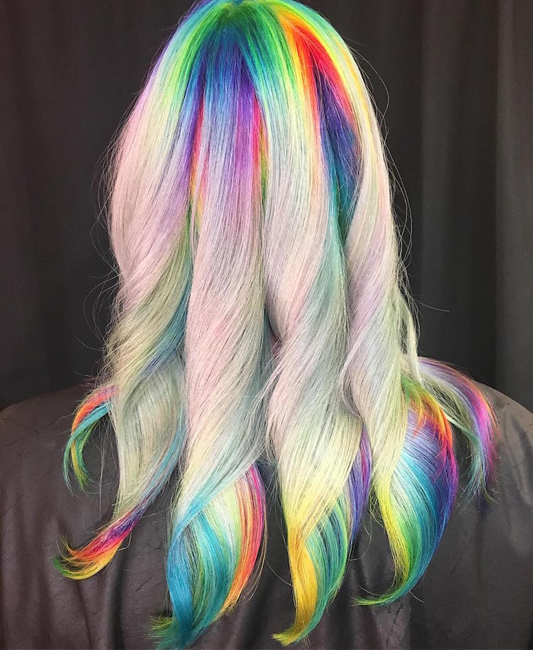 Rainbow Haare Hair Art By Ursula Goff Showcases Stylist's Artistic Skill