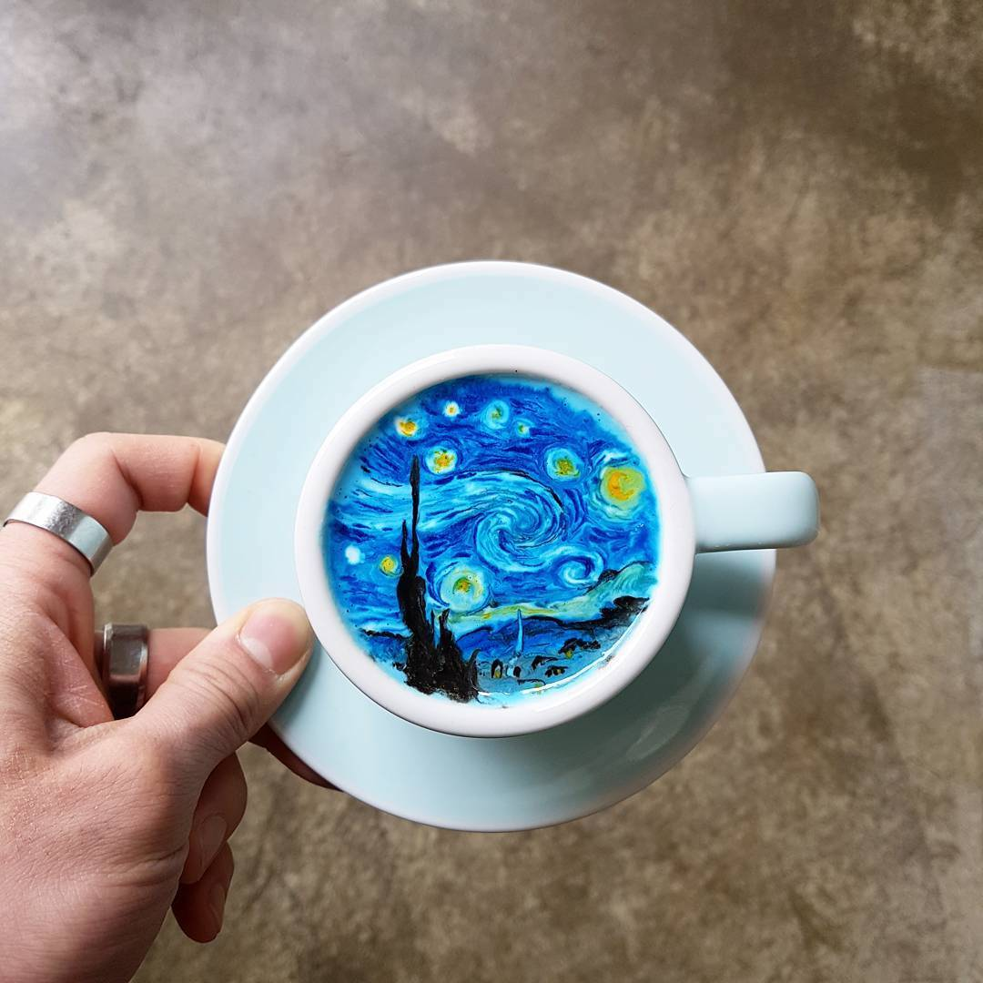 What Is A Coffee Latte Barista Takes Coffee To The Next Level With Colored Latte Art
