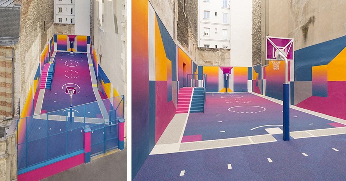 Sweet Home Paris Colorful Basketball Court Pops Up In Paris Thanks To Pigalle