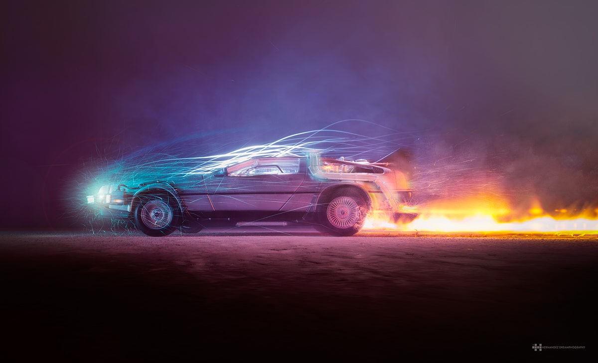 Car Manipulation Wallpapers Smokee Spectacular Back To The Future Fan Art Created With Toy
