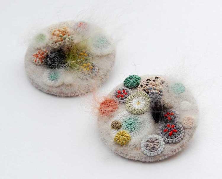Cute Science Wallpaper Elin Thomas Felt Fiber Art Makes Fuzzy Fungi Look Cute