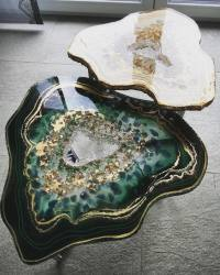 Geode Table Series by Mrs Colorberry Captures the Beauty ...
