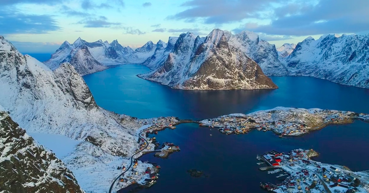 Drone Met Camera 4k Video Reveals The Dramatic Northern Norway Landscape