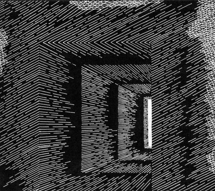 Line Drawing Artist Creates Three-Dimensional Math Art - line drawing