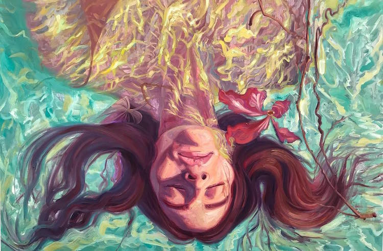 Float Berlin Underwater Paintings Capture Moments Of Tranquility