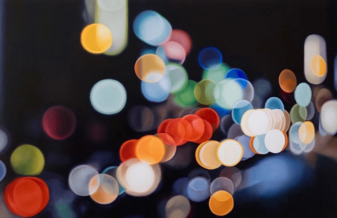Colorful Abstract Oil Paintings Look Like Night Photography Bokeh Shots