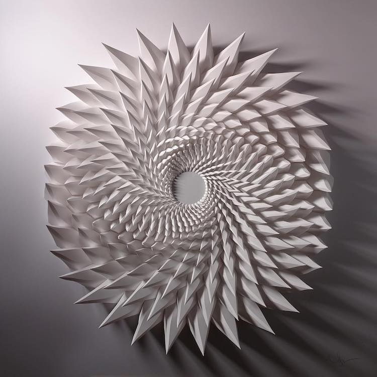 3D Paper Sculpture Transforms the Material into Dazzling Tessellations