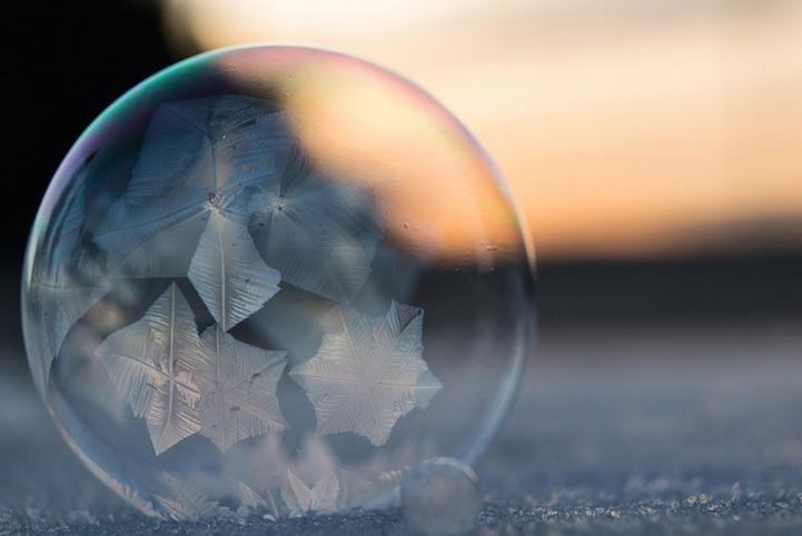 Fall Bird Wallpaper Breathtaking Frozen Bubbles Look Like Elegant Glass Ornaments