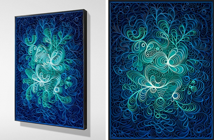 Wall Art Leinwandbilder Hypnotic 3d Canvas Sculptures Play With Vibrant Colors And