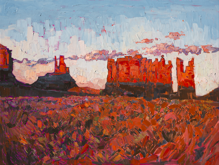 Prints Of Paintings On Canvas Energetic Landscape Paintings Portray Artist Erin Hanson's