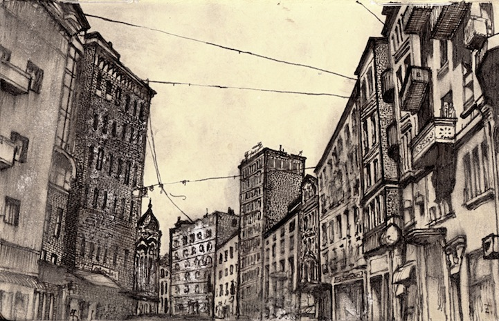 Artist Sketches Each Lonely City He Moves To